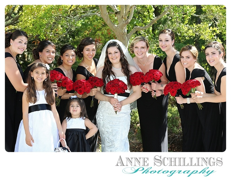 wedding red rose bouquet bride groom couple wine country wedding lace dress pearl   bridesmaids flower girls www.anneschillingsphotography.com