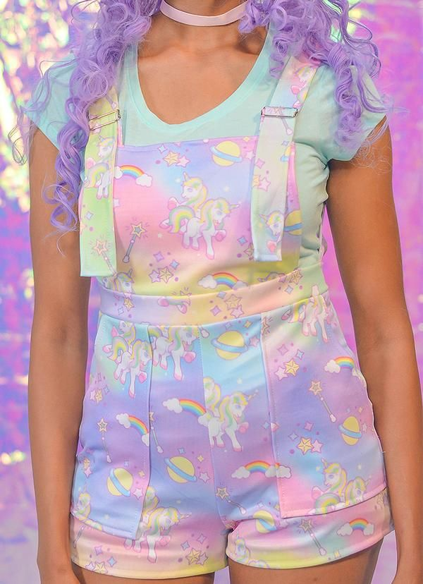 669a1c449b0 Magical Galaxy Unicorn Overalls - In Control Clothing