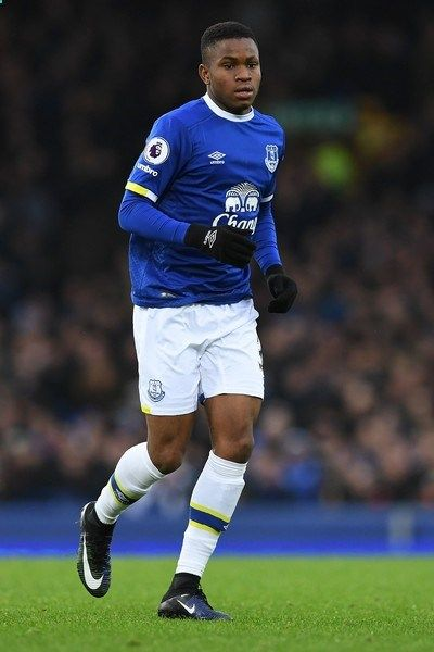 Evertons English striker Ademola Lookman is pictured making his debut during the English Premier League football match between Everton and Manchester City at Goodison Park in Liverpool, north-west England on January 15, 2017..Everton won the match 4-0. / AFP / Paul ELLIS / RESTRICTED TO EDITORIAL USE. No use with unauthorized audio, video, data, fixture lists, club/league logos or live services. Online in-match use limited to 75 images, no video emulation. No use in betting, games or s...