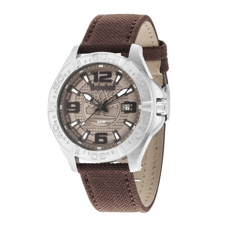 Run your Elegance 365 days a year! Elegance is a mindset WALLACE Brown - Timberland watch Silver and brown dial with brown nylon strap - Runit365 your Elegant Men Store  #mensfashion #boots #deluxe #menstyle #menswear