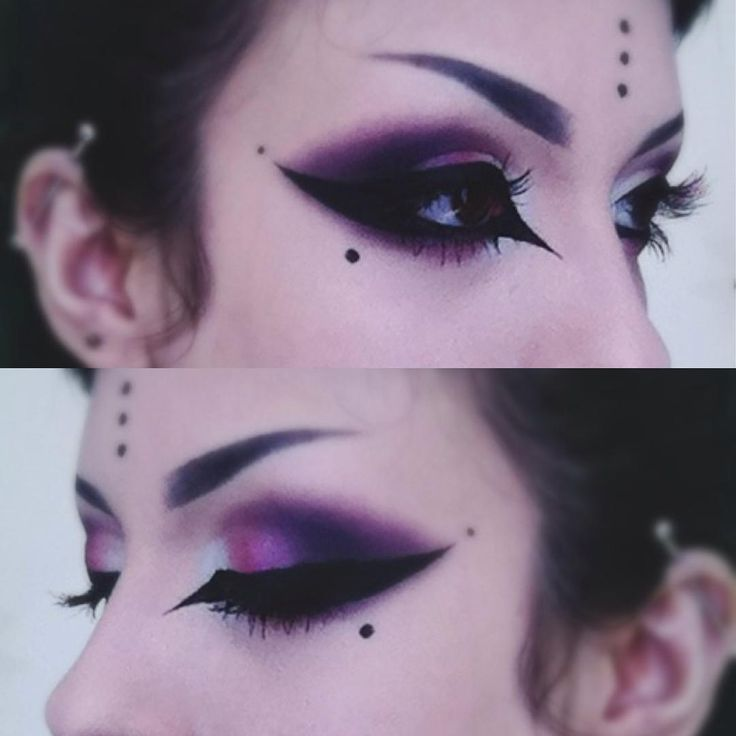 Freakface | wednesdaysnecropolis:   Loved this makeup today...