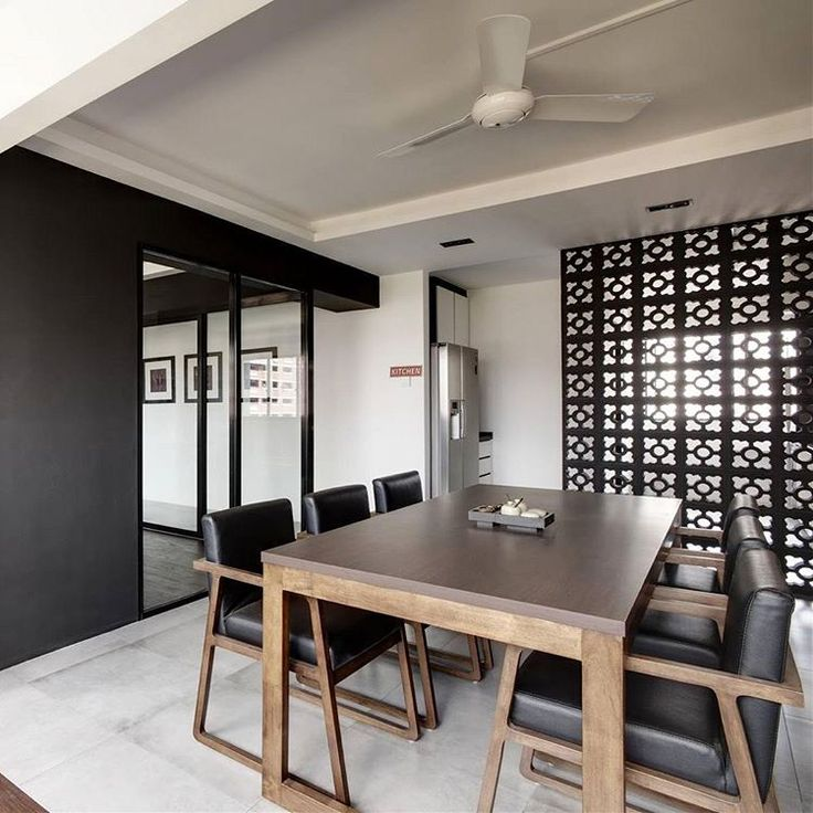 Clean geometric lines dominate this space in a distinctly architectural approach. : @thedesignpractice