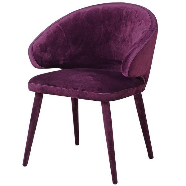 Riley Purple Velvet Dining Chair Pair Dining Chairs Velvet