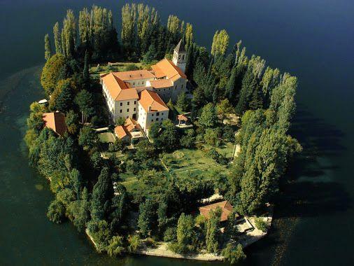 The Visovac Monastery, Visovac Island, Croatia