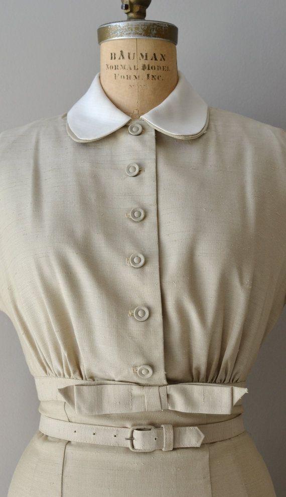 25 OFF SALE.... Girl Friday dress / vintage 1950s by DearGolden