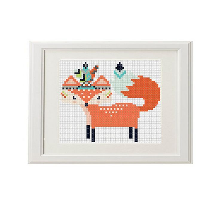 Fox motif de point de croix renard stylos par AnimalsCrossStitch