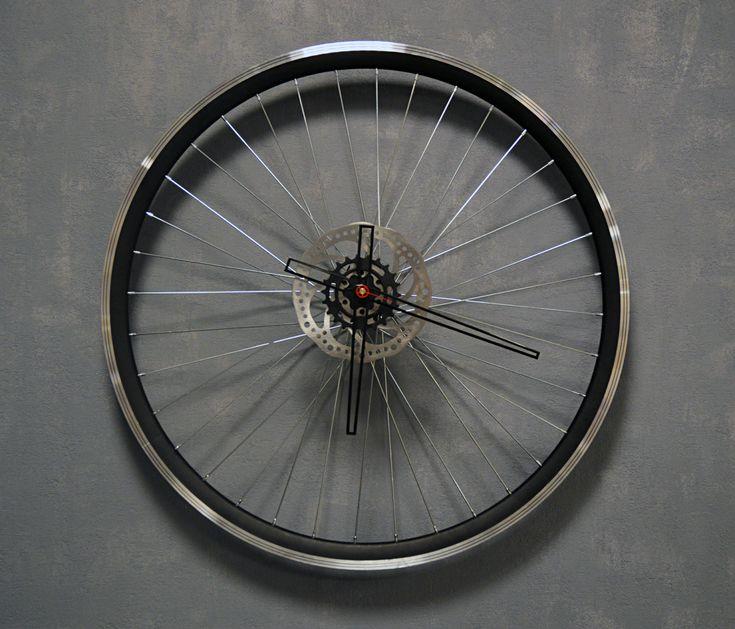 Bike Wheel Clock Blackout by BikesBazaar on Etsy