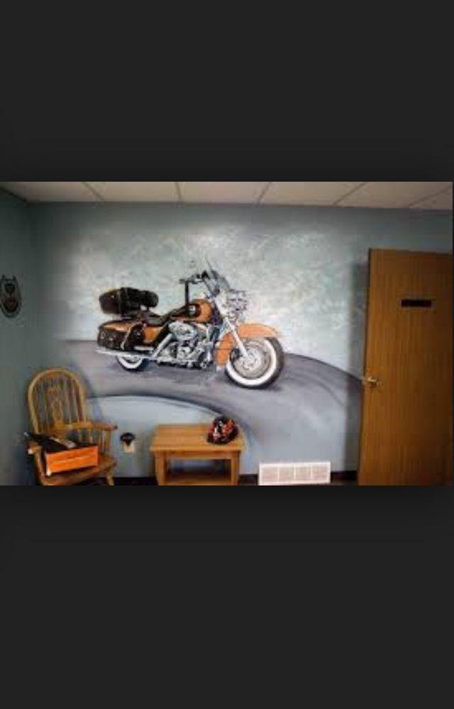 The Best Harley Davidson Wall Murals Design   I Love Harley Bikes Part 85