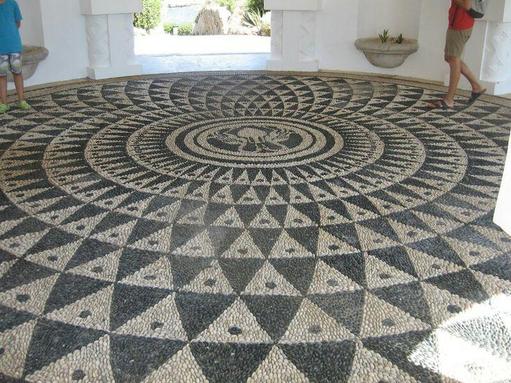 Pebble mosaic in Rhodes | Greek Island Architecture ...