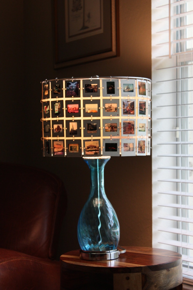 Lampshade made from SLIDES