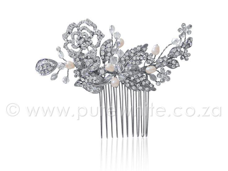 PURE WHITE - Rhinestone  http://www.purewhite.co.za/rhinestone-freshwater-pearl-haircomb-5-022/