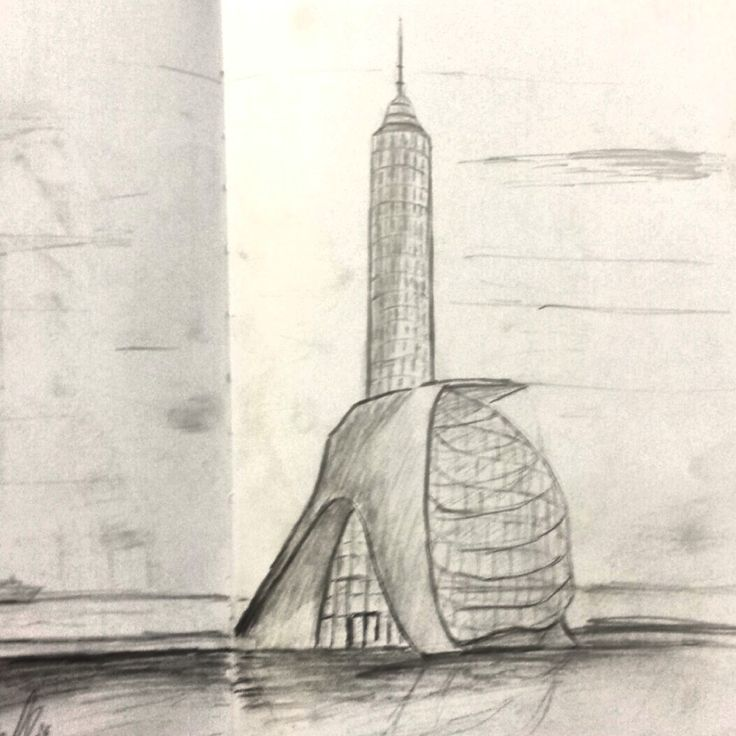 A residential and light tower. Pencils: B2, HB