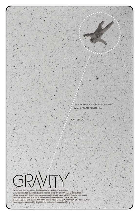 Gravity Film Poster on Etsy, £9.50