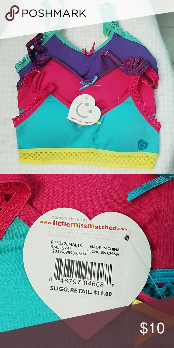 4 Little Mismatch Sports Bras for Girls 4 Cute Sports Bras in Size Small for Girls. One Bra is still brand new with tag. little MisMatched Accessories Underwear