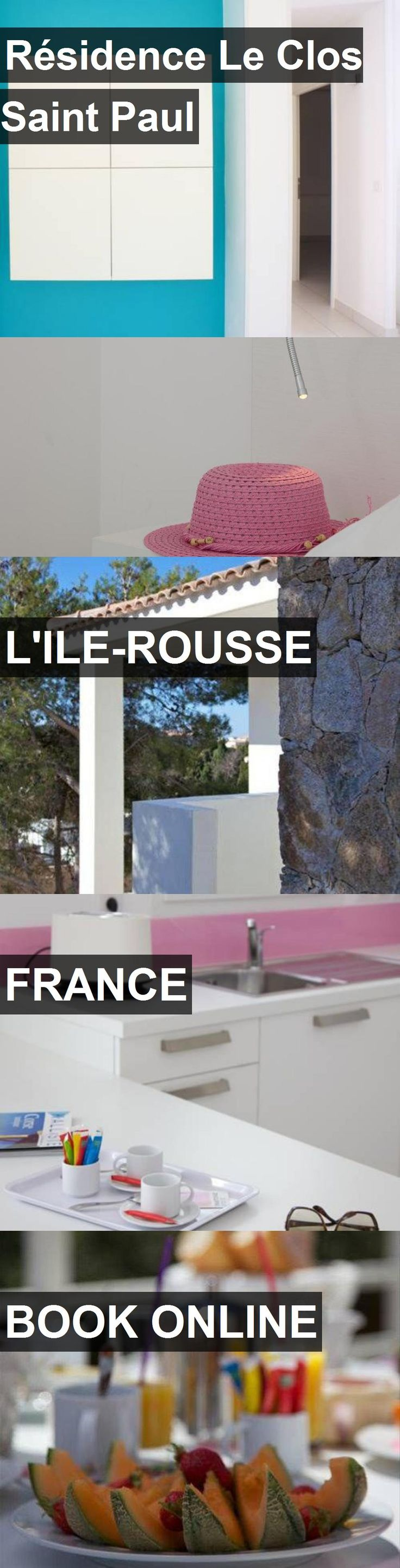 Hotel Résidence Le Clos Saint Paul in L'Ile-Rousse, France. For more information, photos, reviews and best prices please follow the link. #France #L'Ile-Rousse #travel #vacation #hotel