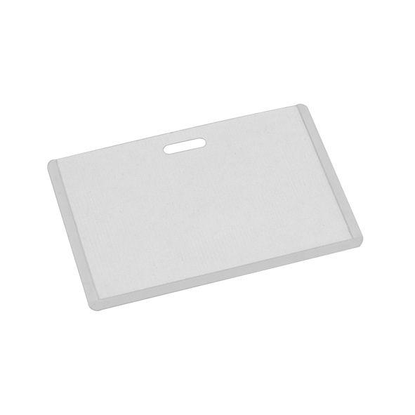 COD.LI021  Porta-Credencial de Vinil Transparente, para Credenciales tamaño Tarjeta de Crédito. Visibilidad por ambos lados. Presentación Horizontal.