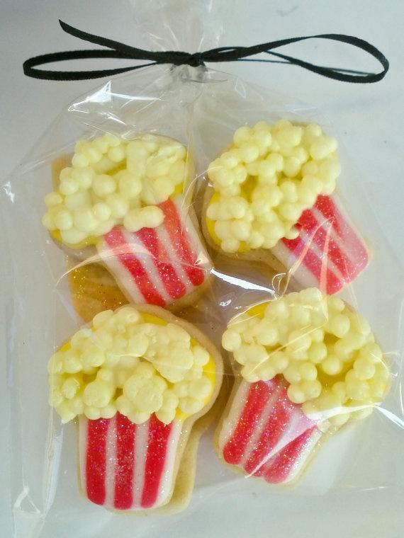 Popcorn Box Sugar Cookies 2 Dozen by acookiejar on Etsy, $23.95