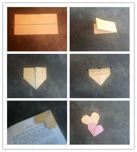 Regalo perfecto para todos aquellos que aman leer. Marcapágina hecho con cartulina escolar o papel con la técnica del origami.