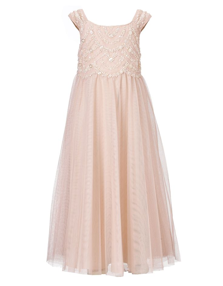 pale pink flower girl dress-classy