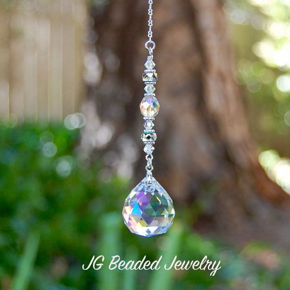 Prism Crystal Suncatcher, Rearview Mirror Car Charm, Window Decoration, Hanging Crystal Prism, Sun Catcher, Light Catcher, Rainbow Maker