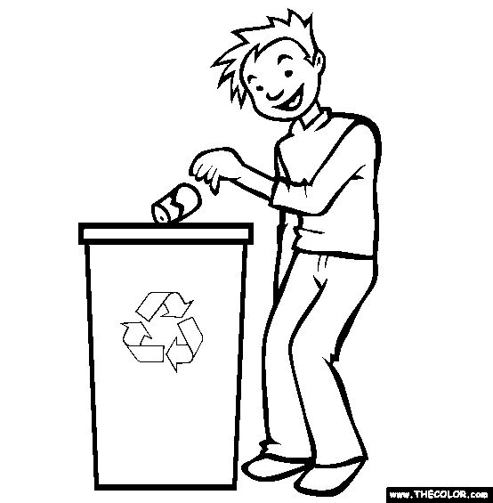 recycle coloring pages - photo#34