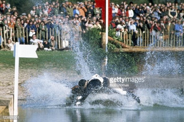 The Lake at Badminton. Britain's status as world leader in eventing owes everything to Badminton. In 1949, the 10th Duke of Beaufort, mortified by the home team's feeble showing in the 1948 Olympics, started it on his estate to train riders. It embodies our unrivalled tradition of using the great country houses as backdrops. 'Red [flag] on right, white on left, insanity in the middle' (Anon)