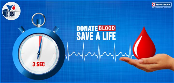 #DidYouKnow: In every 3 seconds, someone needs blood. #Donateblood, save a life & #BeAHero this 6th December.
