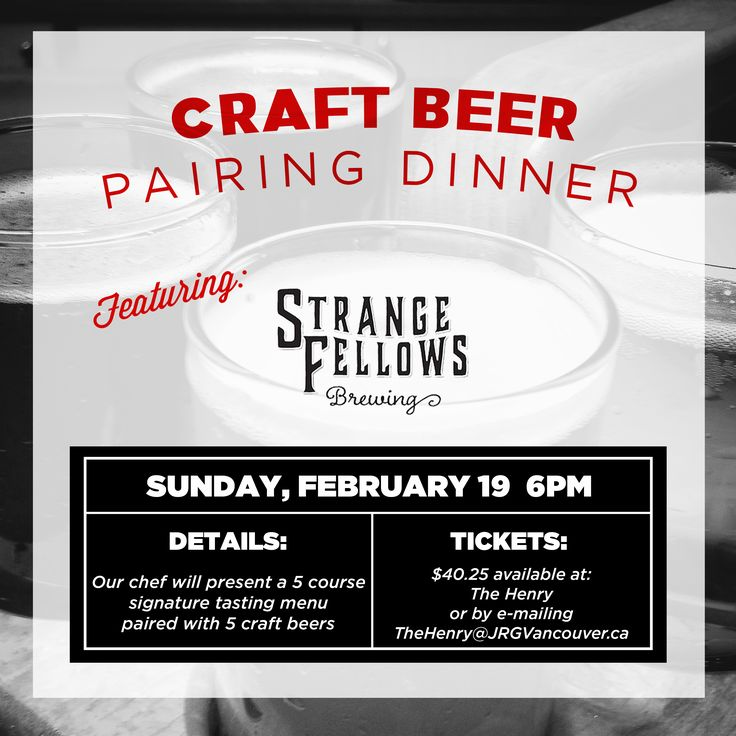 February 19th, The Henry Presents: Strange Fellows Brewing – A 5 Course Pairing Dinner ‹ Joseph Richard Group