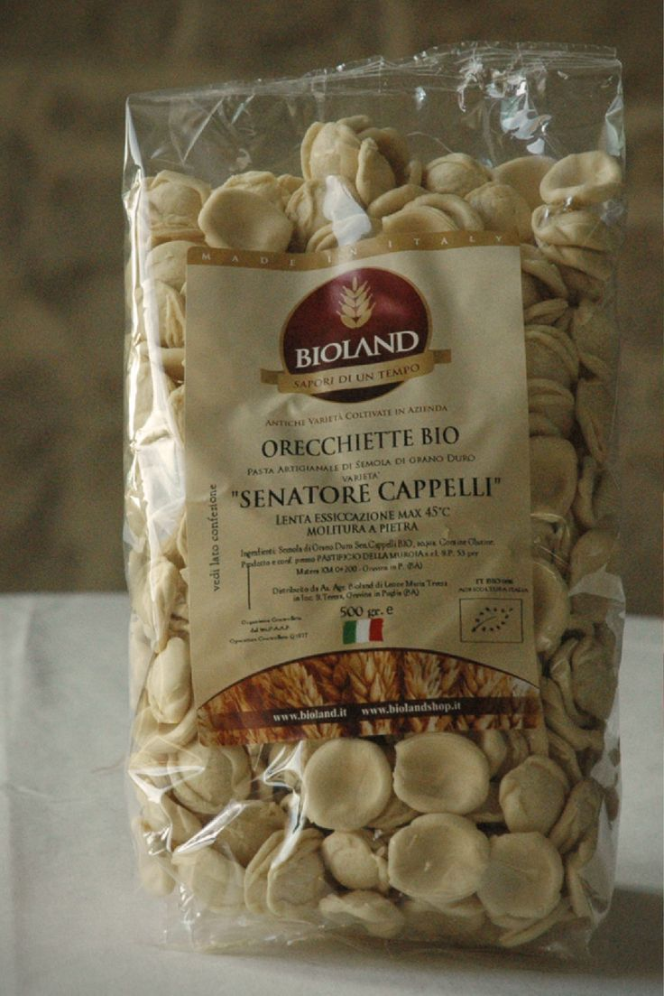 "Our organic pasta is made from a variety of grain called ""Senator Cappelli."" No, we didn't name it. Yes, that's really the grain's name.  On the verge of extinction, some farmers from Puglia saved the grain.  It is ground in traditional stone mills to a very specific consistency that makes the pasta very easy to digest.  While not gluten free, studies have shown that those with gluten intolerance can enjoy this pasta, and it's great for diabetics for the same reason.  Best of all, it's…"