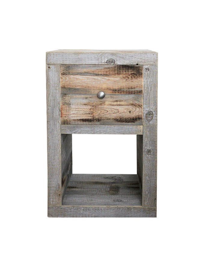 Reclaimed Wood Nightstand, End Table - Free Shipping – JW Atlas Wood Co.