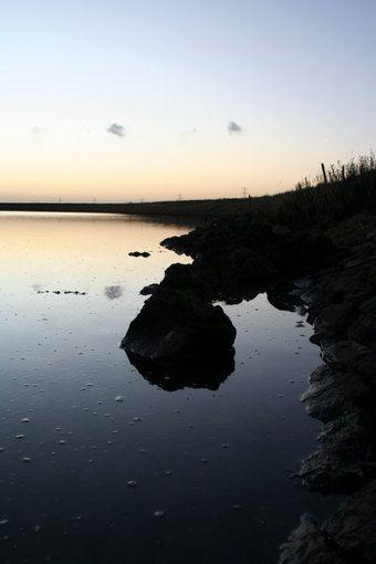 Lake during the sun set by PopinjayPrints on Etsy, $17.00