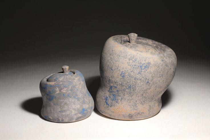 Seated Jars, Daniel Cavey, wheel thrown stoneware.