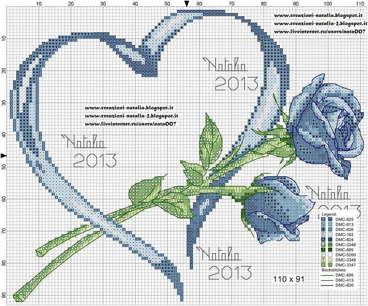 Creazioni-Natalia - «portafedi-rose-cuore-blu.jpg» de Yandex