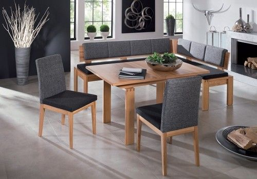 Monaco Dining Set Corner Bench Kitchen Booth Nook Expandable Table Chairs