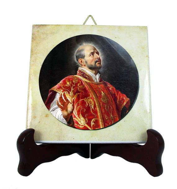 Today is the feast of St Ignatius of Loyola. A new collectible ceramic tile is available in the Store: >>> https://www.etsy.com/listing/536368737 <<<  #stoftheday #saintoftheday #liturgicalcalendar #saints #catholicsaints #stignatius #ignatius #saintignatius #faith #religious #christianity #handmade #crafts #etsyfinds