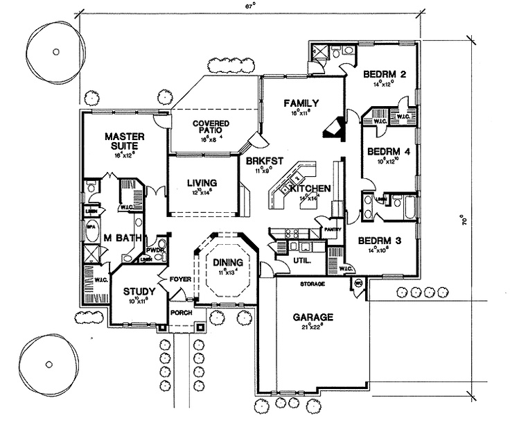 home plans square feet 4 bedroom 3 bathroom new american home with 2 garage bays - Cylinder Home Floor Plans