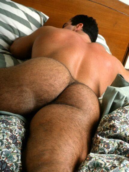 Butt naked hairy men