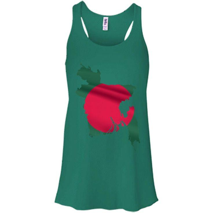 Bangladesh flag-01 Bella + Canvas Flowy Racerback Tank