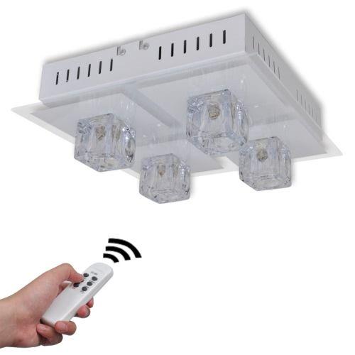 RGB LED Deckenlampe Wohnzimmer Leuchte 4 Lampenschirme