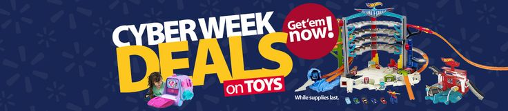 #Cyber Week #deals on #toys. Get 'em now. While supplies last. #Cybermonday#coupons