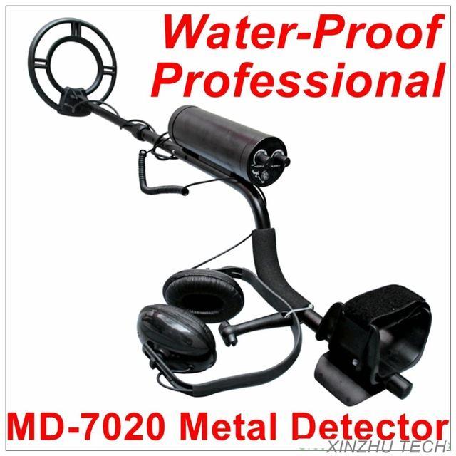 Lleno más nuevo Impermeable MD7020 Submarino Profesional Detector De Metales Detector de Oro Detector De Metales Cazador de Tesoros