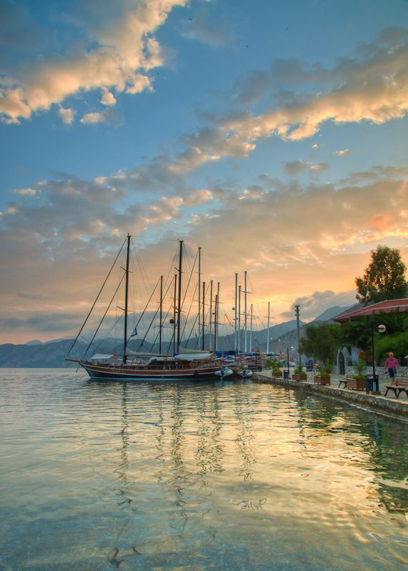 Selimiye Harbor at Sunrise-Marmaris