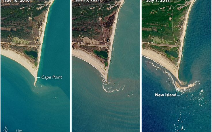 #NC island mysterious birth appears on #NASA #satellite images...