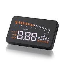 5.5 OBDII Car HEAD Unit Display shows speed of vehicles and give warning of speed.
