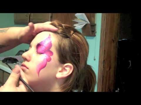 TAG Berry One Stroke Eye Face Painting | Marvelous Masks Chicago Face Painter - YouTube