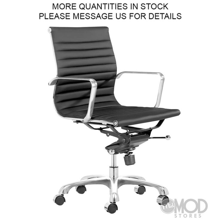 Black Eames Office Chair Eames Aluminum Group Management Chair Eames Style  Office Chair Ribbed Back Office