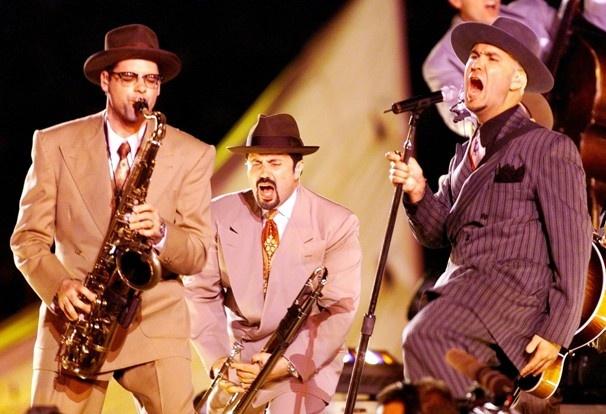 Big Bad Voodoo Daddy - Super Bowl XXXIII (1999). Theme: Celebration of Soul, Salsa and Swing