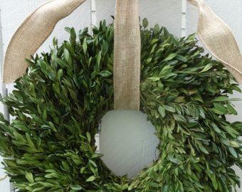 Gedroogde Buxus krans bruiloft Decor Buxus krans natuurlijke Buxus krans handgemaakte krans bruiloft krans Home Decor