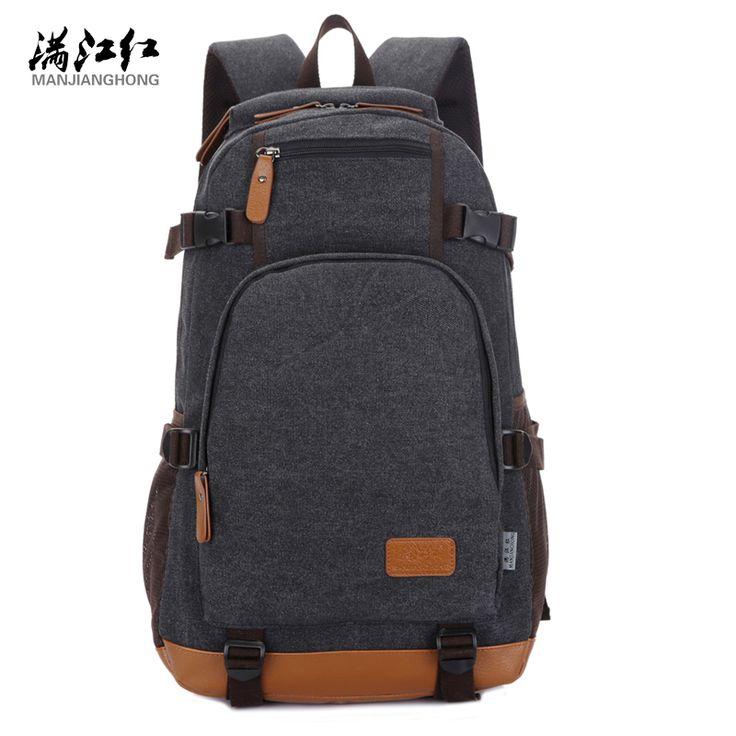 Manjianghong Canvas Backpack High Quality Big Capacity Travel Men Backpack Mountaineering Backpack Bag 1266