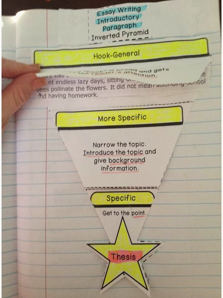 Pyramid Introductory Paragraph School Pinterest